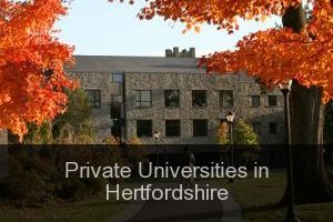 Private Universities in Hertfordshire