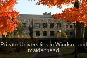 Private Universities in Windsor and maidenhead