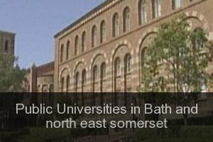 Public Universities in Bath and north east somerset