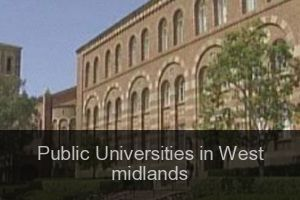 Public Universities in West midlands