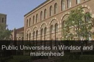 Public Universities in Windsor and maidenhead